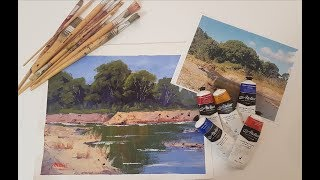 """Learn To Paint TV E26 """"Mary River Reflections"""" Acrylic Painting Beginners Step By Step"""
