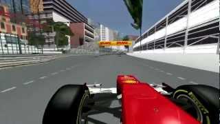 [F1C] Scuderia Ferrari F2012 @Monaco (Fernando Alonso Golden Helmet - mod F1 2009-2012 by JG) [HD]