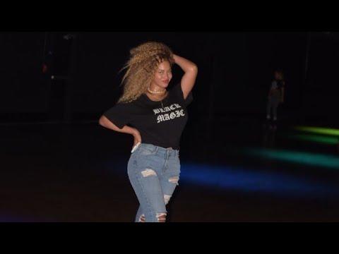 Beyoncé skating at world of wheels in LA