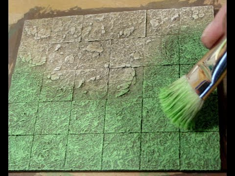 Painting Grass Dirt And Rock Without Using Ink Washes