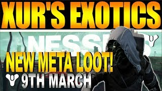 Destiny 2 Intel | XUR LOCATION & EXOTIC Weapons, Armor & New Meta Sale! (9th March)