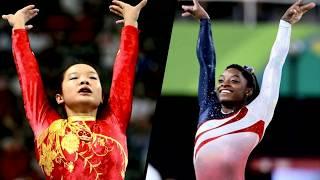 Cheng Fei vs. Simone Biles: Scoring Comparison