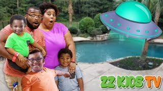 UFO Surprised ZZ Kids with a new Swimming Pool! SUBSCRIBE TO OUR CH...