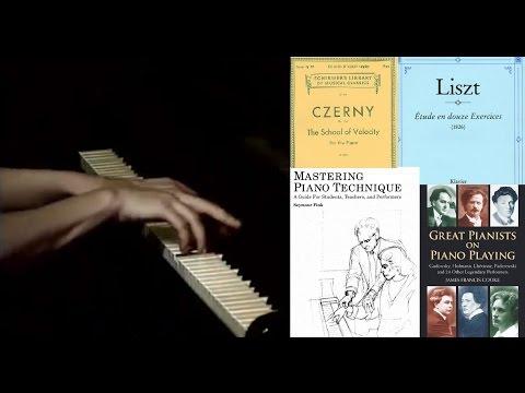 Libros de técnica y repertorio para pianistas avanzados.