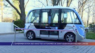 Yvelines | L'expérimentation des navettes autonomes de Saint-Quentin-en-Yvelines lancée