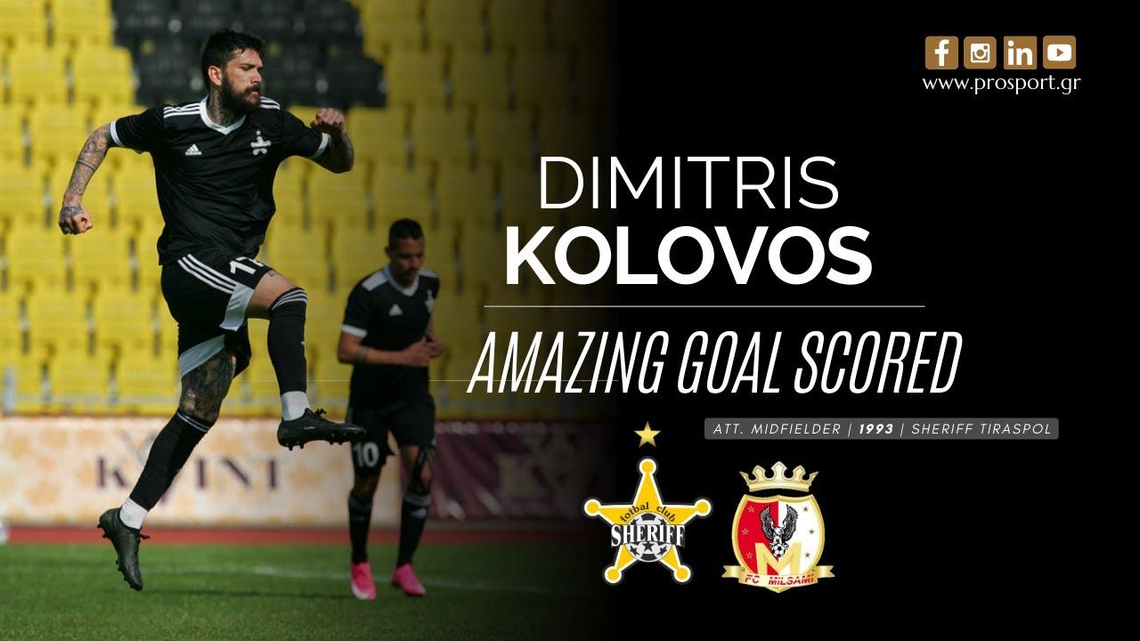 Dimitris Kolovos - Amazing Goal vs. Milsami (VIDEO)