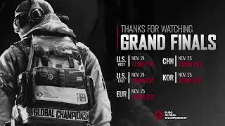 [ENG] PUBG Global Championship - Finals Day 1