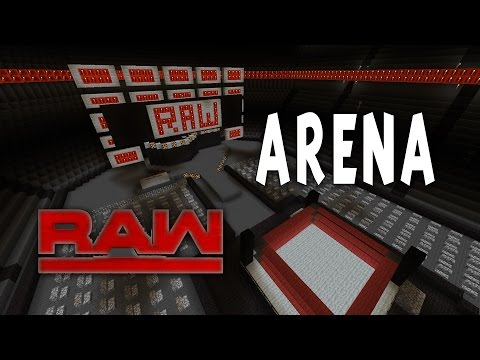 WWE Minecraft Monday Night Raw Arena 2017
