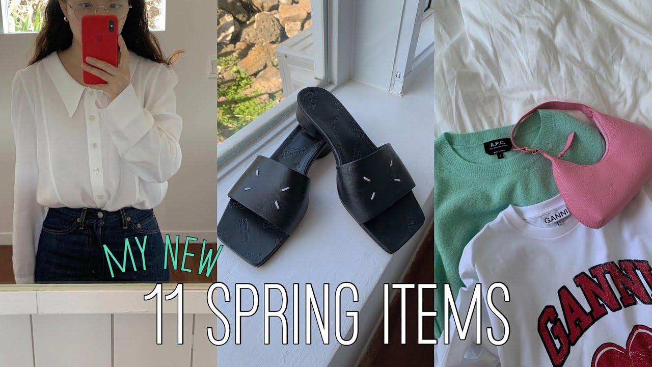 My new 11 spring items🧃 (마르지엘라 슬리퍼, 바이파, 아페쎄, JSNY, 마론에디션, 카이트 and 마이테레사)