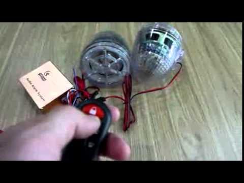 Prosense Motorcycle Clear Shell MP3 Burglar Alarm