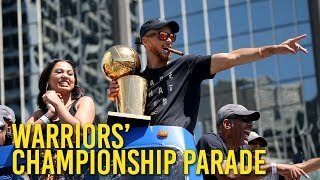 Highlights from the Golden State Warriors' championship parade