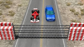 Beamng drive - Chain Wall against Cars