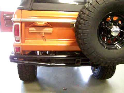1973 Ford Bronco Lifted Uncut Light Copper Metallic Start up and running