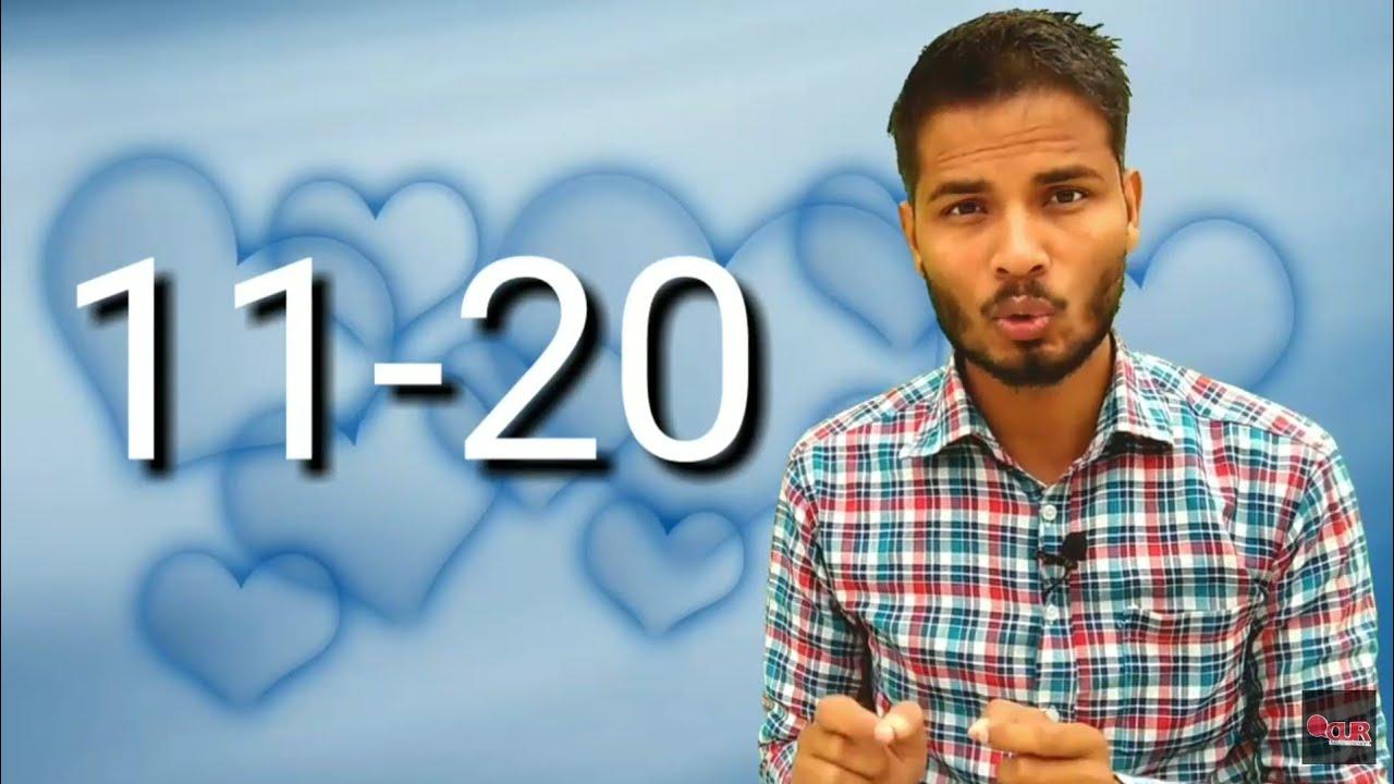 Learn Hindi - Numbers 11 to 20 with Master ji Rizwan