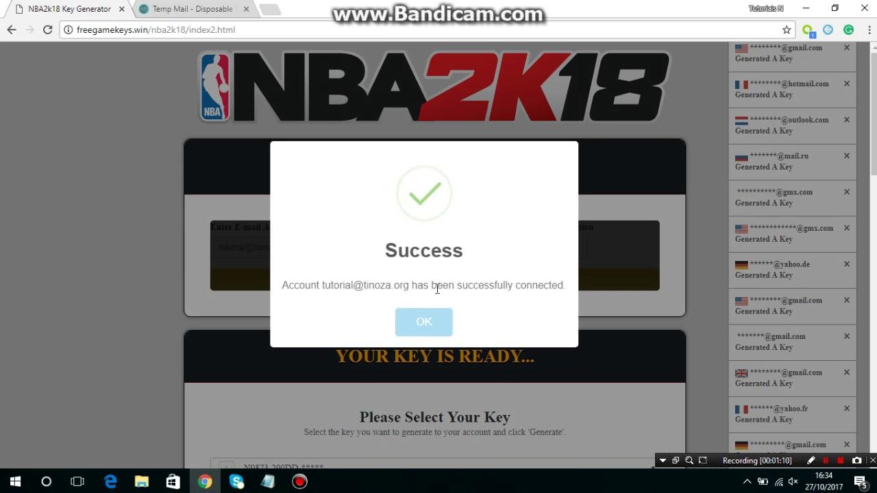 nba 2k18 free product key