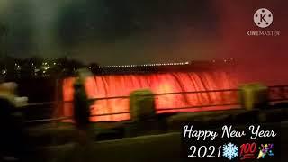 4K Driving Around Niagara Falls at Night   Happy New Year 2021