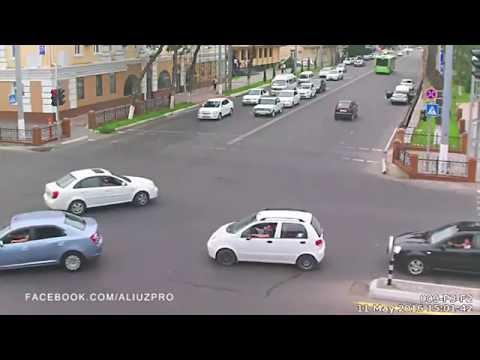 Видеонаблюдение в Ташкенте 2016 (Подборка аварии) (2-часть)