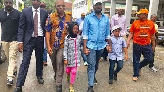 Hassan Joho Walks with his Two Children, His son and Daughter .He Finally Reveals His Family.