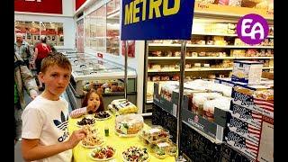 Детский праздник в МЕТРО! Делаем ЛИЗУНА своими руками. Дегустация в МЕТРО Пробуем сладости в МЕТРО