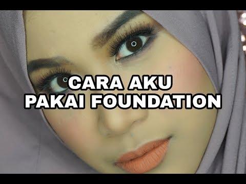 CARA PAKAI FOUNDATION