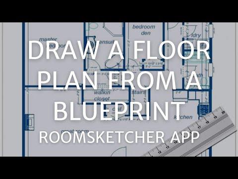 Draw a Floor Plan from a Blueprint - RoomSketcher App