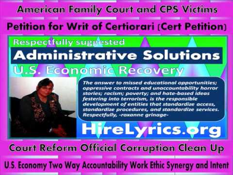 US Court and CPS Corruption Equal Economy Recovery Stimulus Agency Fraud