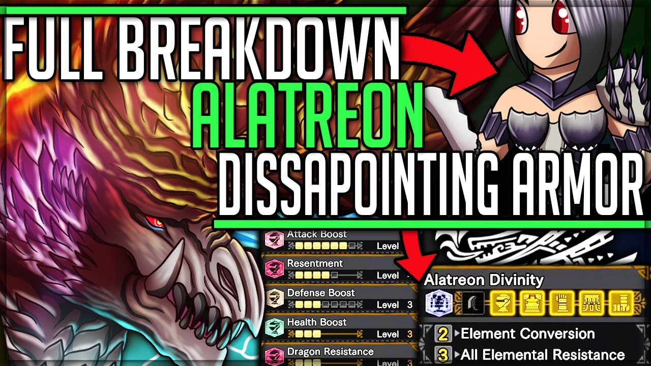 Alatreon Is Pure Insanity Armor Review Fight Breakdown