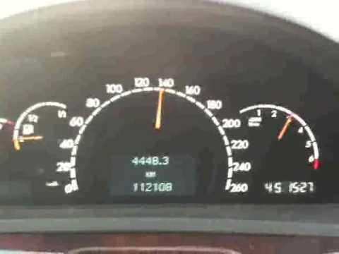 Mercedes S500 Acceleration Kickdown 60 200 Km H