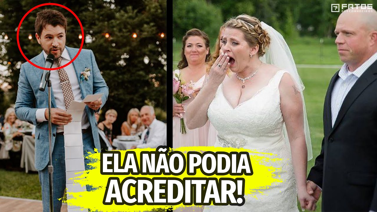 O convidado do casamento pegou o microfone, a noiva congelou ao ouvi-lo
