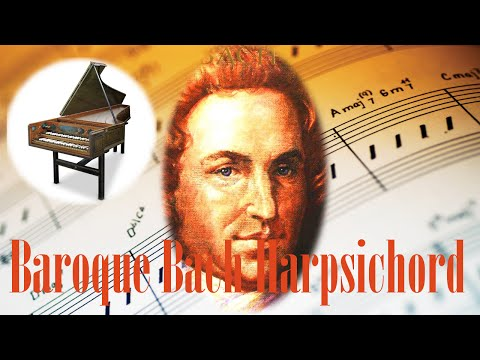 ❤ 8 HOURS ❤ Best of Bach Harpsichord Music Concerto Long - Classical Music for Relaxation