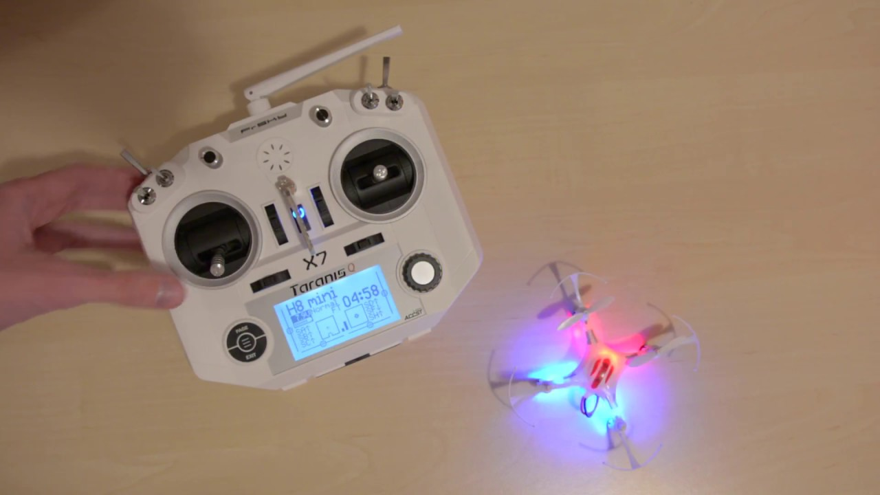H8 mini controlled with FrSky Taranis