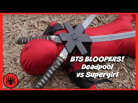 BTS Bloopers: Little Heroes Kid Deadpool Vs Supergirl Superhero Battle | Super Hero Kids BTS 3