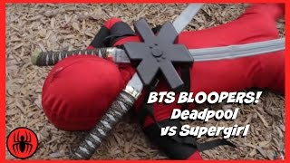BTS Bloopers: Little Heroes Kid Deadpool Vs Supergirl Superhero Battle | Super Hero Kids BTS 3