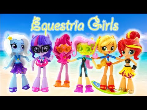 New MLP Equestria Girls Minis Dolls Forgotten Friendship In Swimsuits Toy Review