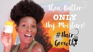 How to KEEP your Natural Hair Moisturized ALL WEEK! Shea Butter ONLY twist out