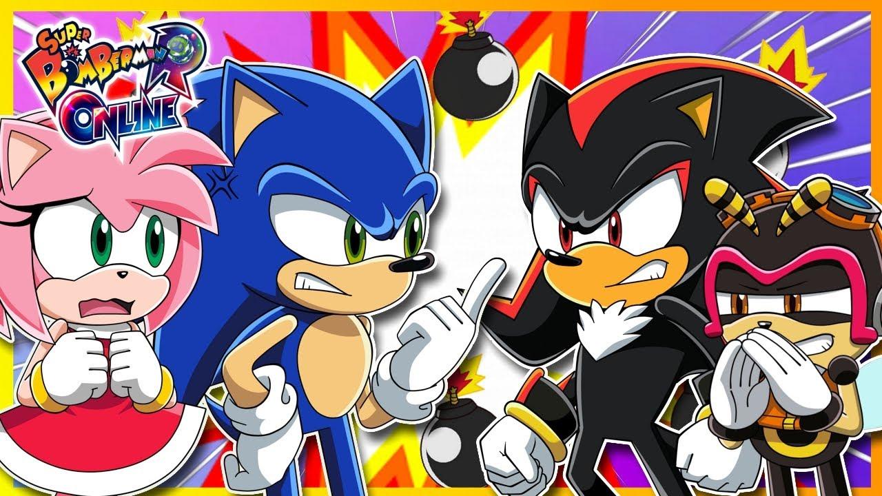 SONIC BATTLE ROYALE WHO WILL WIN!! Sonic VS Shadow VS Amy VS Charmy! Super Bomberman Online