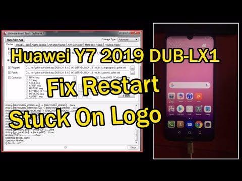 Huawei Y7 2019 DUB-LX1 Repair Restart / Stuck On Logo