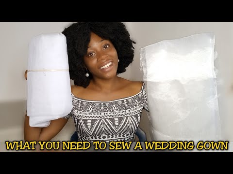 Things I Bought To Sew My WEDDING GOWN + Materials needed to sew a wedding gown @Stitchadress