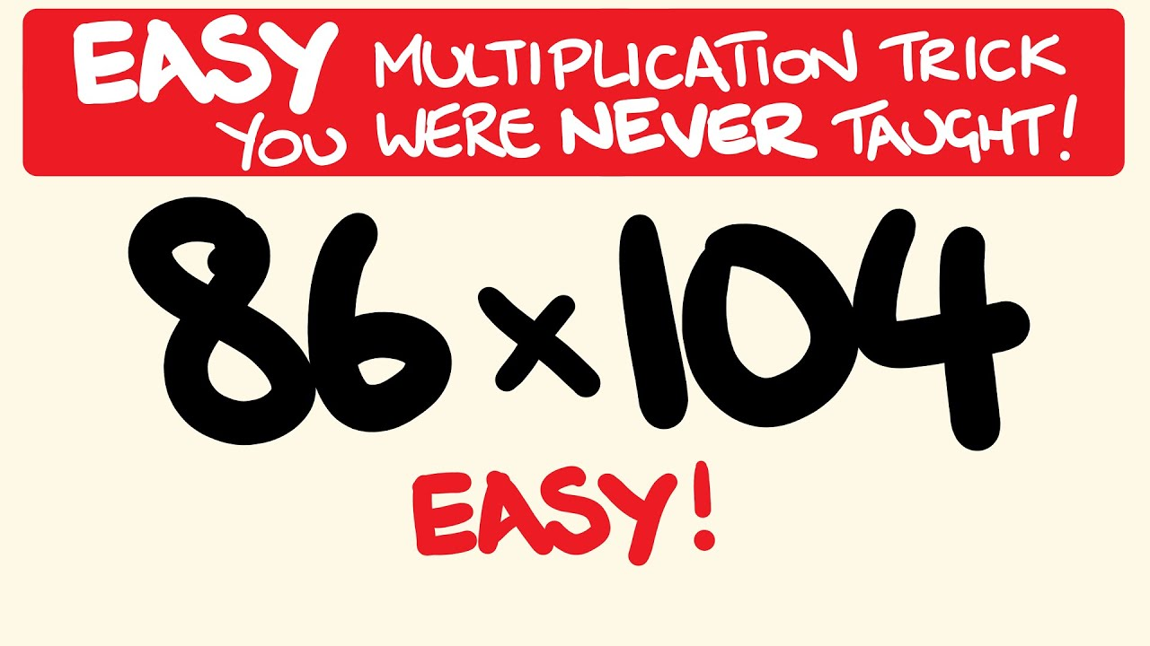 Easy Multiplication trick for BIG numbers.