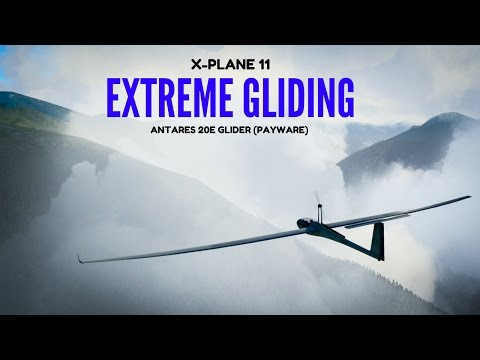 X-Plane 11: Extreme Gliding in the French Pyrenees in the Antares 20E Glider (Payware)