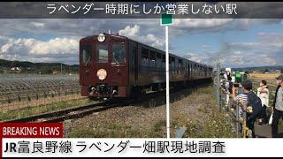ラベンダー時期にしか営業しない駅 JR富良野線ラベンダー畑駅現地調査