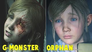 Orphan Sherry Transforming to G-Monster  FULL STORY - Resident Evil 2 Remake 2019