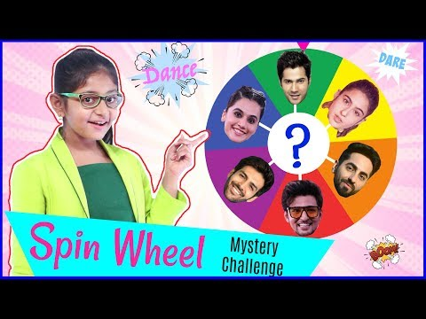 SPIN-WHEEL with FILMSTARS – Mystery Challenge | #KCAIndia19 #Fun #Slime #Bollywood #MyMissAnand