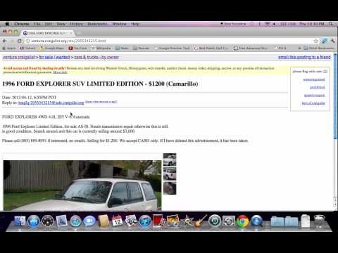 Craigslist Ventura County – Used Cars, Trucks and SUVS For Sale By Owner