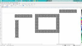 Corel Draw Tips & Tricks Greek Pattern Square one part 2