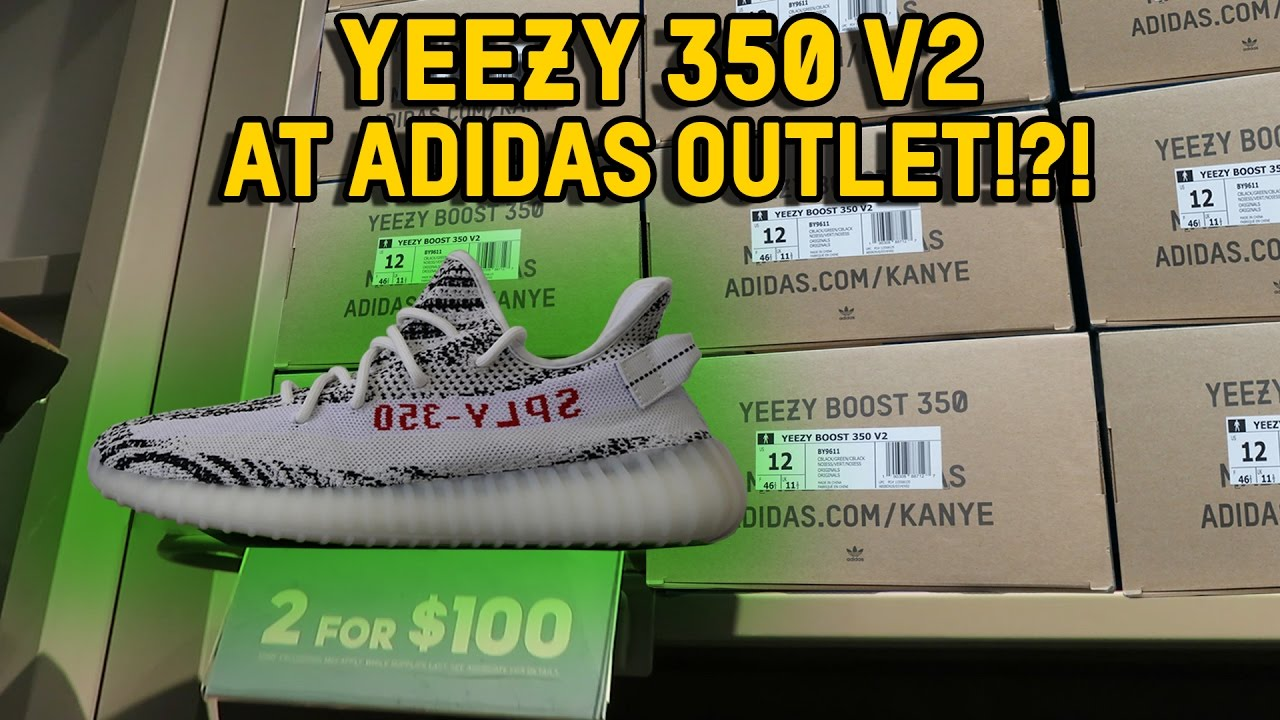 YEEZY 350 V2 AT ADIDAS OUTLET!?!