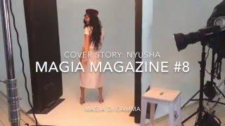 Backstage видео фотосессии певицы Нюши для журнала