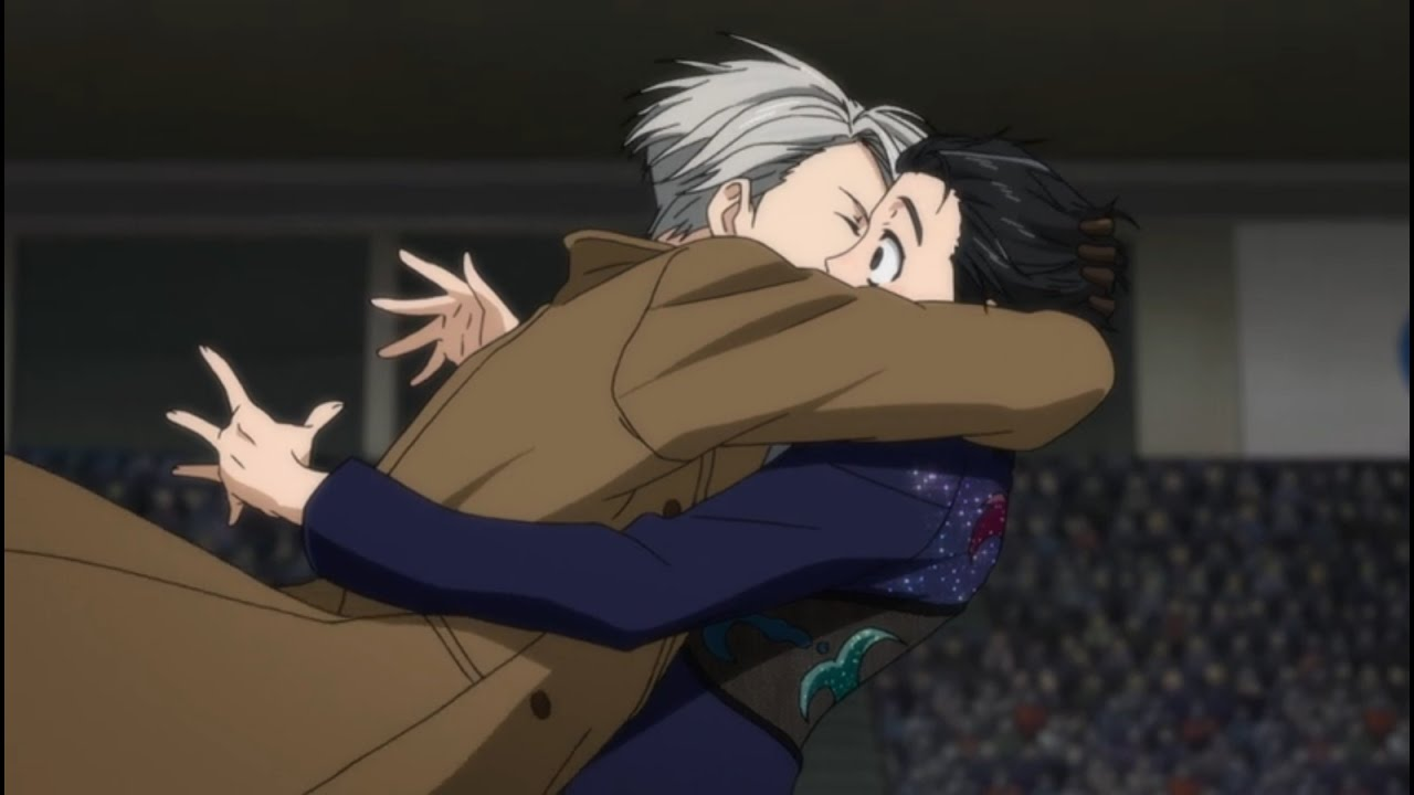 Image result for episode 7 yuri on ice kiss