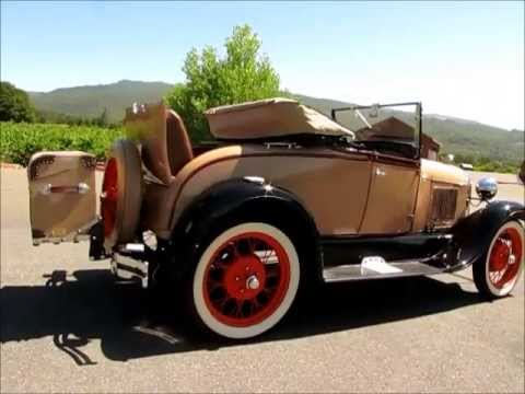 1929 Ford Model A Rumble Seat Convertible For Sale Youtube