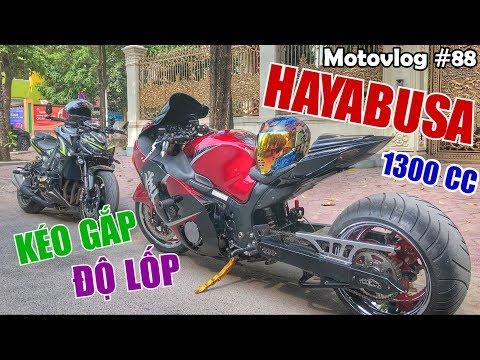 Z1000 thần thánh đối đầu Hayabusa thần gió 1300cc độ kéo gắp, lốp cực khủng | Motovlog 88